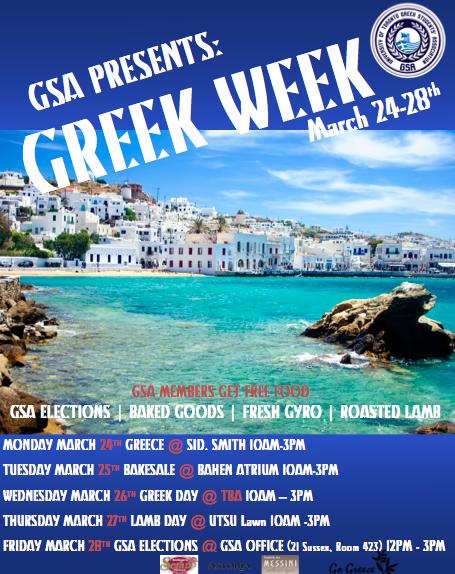GSA GREEK WEEK