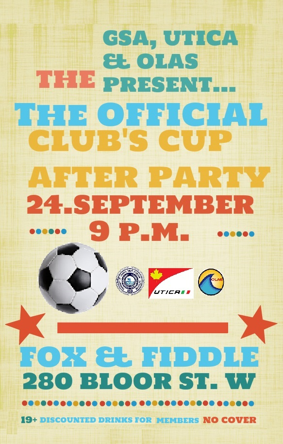 CLUBS CUP PUB POSTER